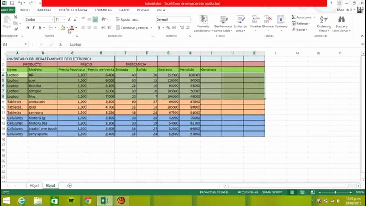 Como Hacer Inventario En Excel Lovely Tutorial Para Un Inventario Simple De Logstica