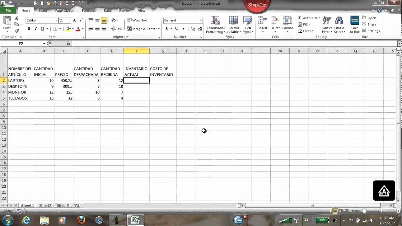 Como Hacer Inventario En Excel Luxury Tabla Inventario En Excel