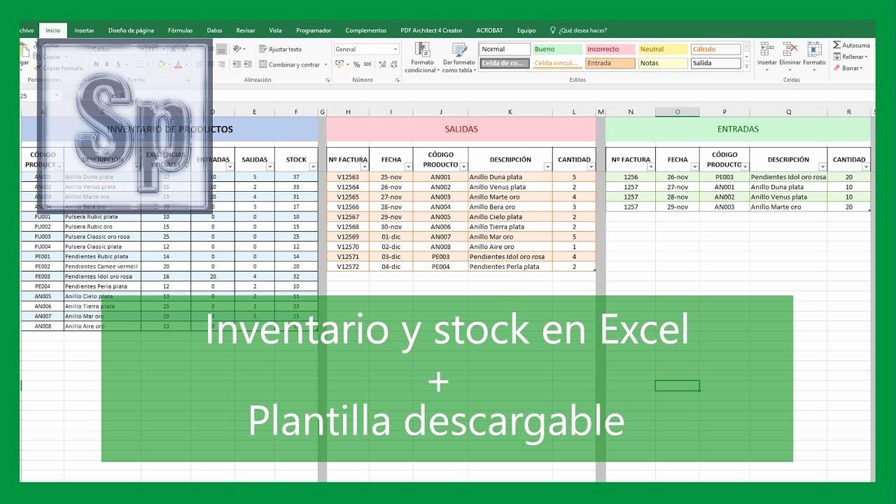 Como Hacer Inventario En Excel Unique Excel Cómo Hacer Inventario Y Control De Stock Entra