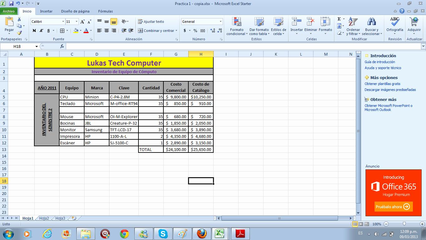 Como Hacer Inventario En Excel Unique Rosalinda Ayala C