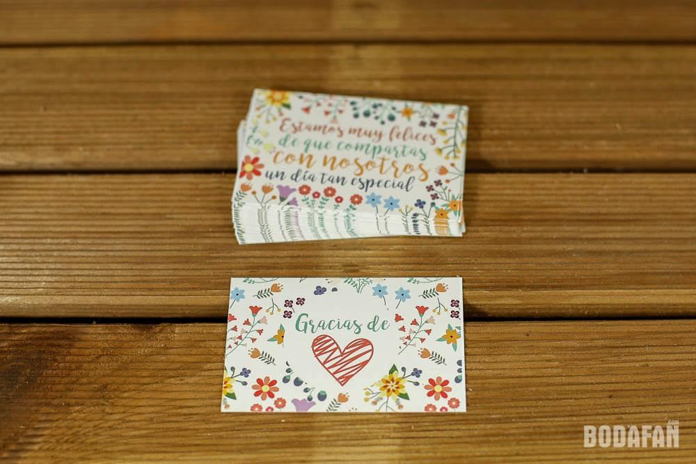Como Hacer Tarjetas De Agradecimiento Awesome Tarjetas De Agradecimiento Para Bodas Con Motivos Florales