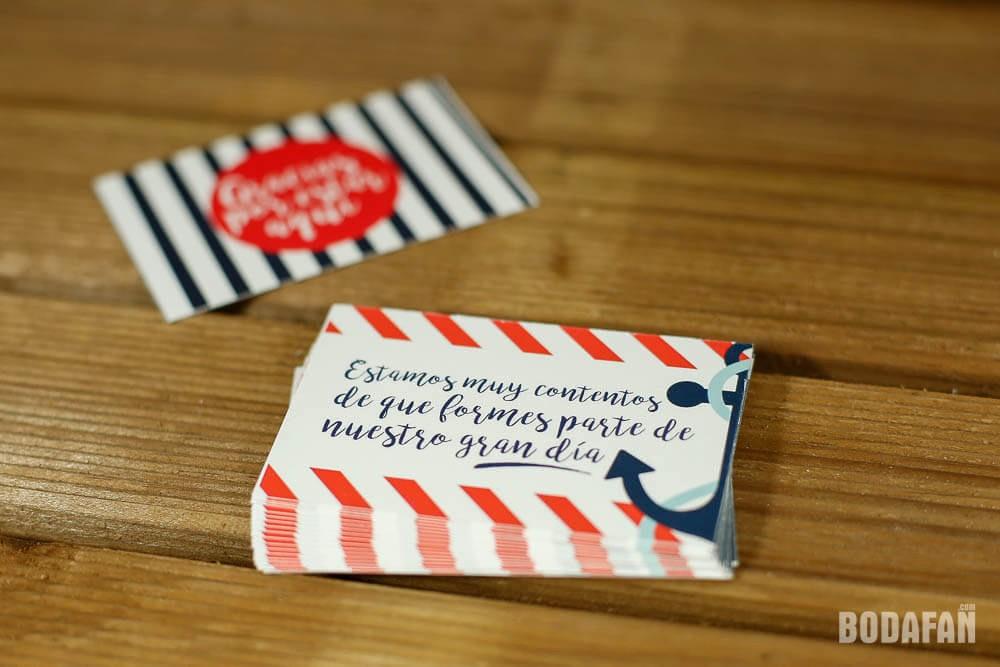 Como Hacer Tarjetas De Agradecimiento Awesome Tarjetas De Agradecimiento Para Bodas Con Motivos Marineros