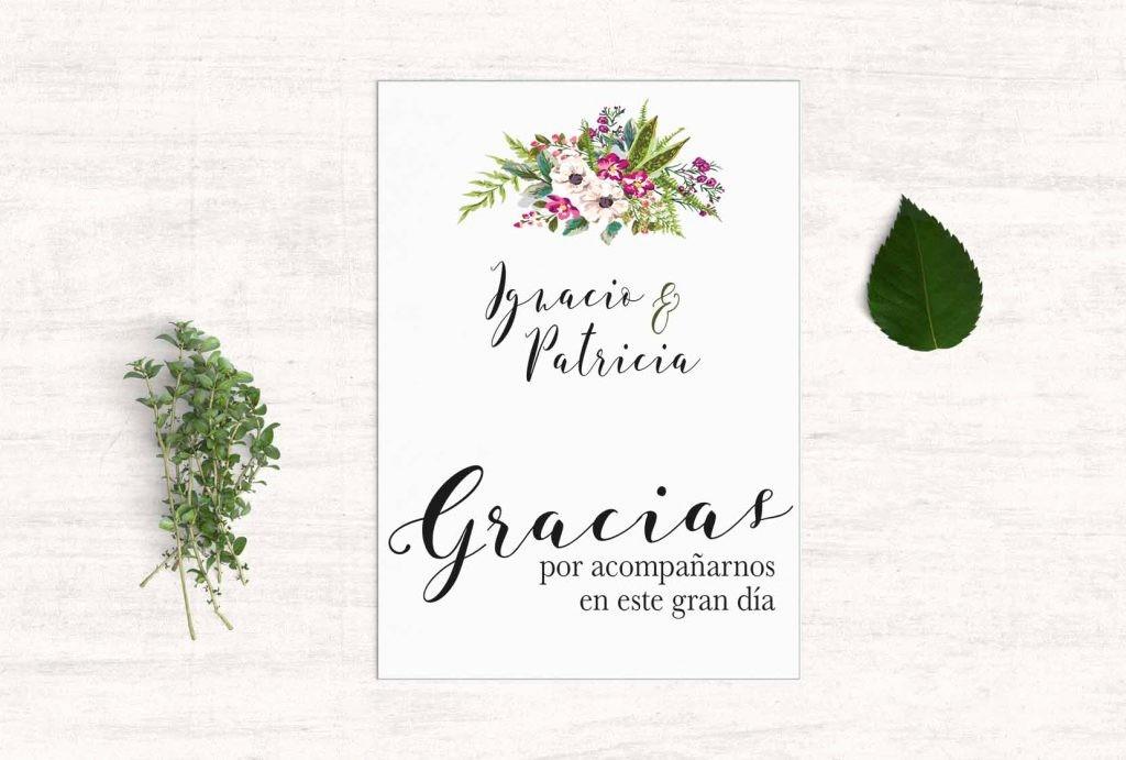 Como Hacer Tarjetas De Agradecimiento Fresh Tarjetas De Agradecimiento Boda Bouquet Martina Design&paper