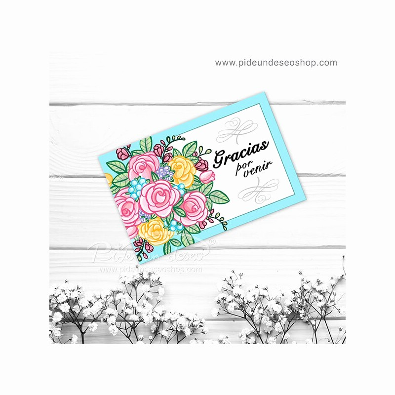 Como Hacer Tarjetitas De Agradecimiento Awesome Tarjeta Gracias Flores