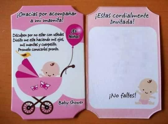 Como Hacer Tarjetitas De Agradecimiento Luxury Invitaciones Para Usar En Un Baby Shower