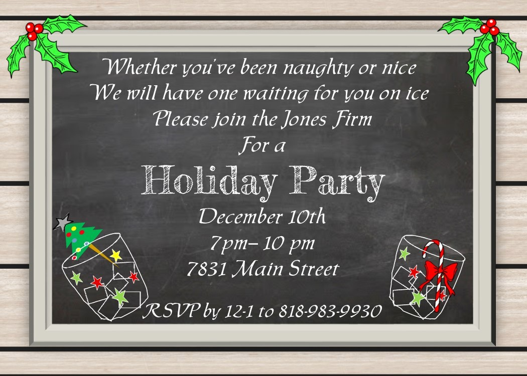 Company Christmas Party Invite Template Awesome Party Invitation Templates Pany Christmas Party