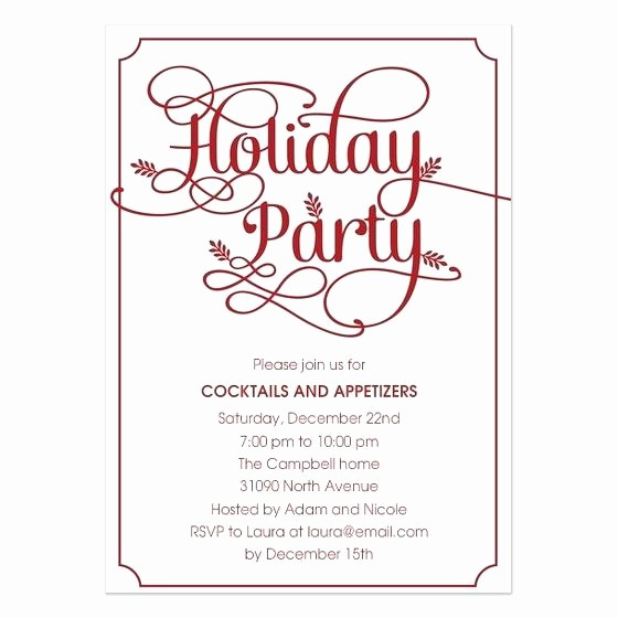 Company Christmas Party Invite Template Awesome Work Holiday Party Invitations Fice Invitation Template