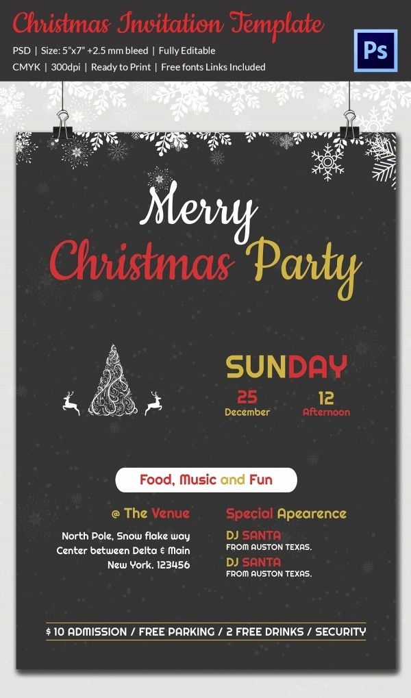 Company Christmas Party Invite Template Beautiful 20 Christmas Party Templates Psd Eps Vector format