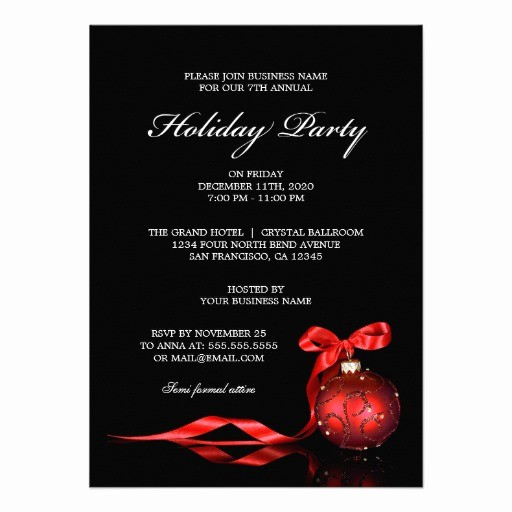 Company Christmas Party Invite Template Beautiful 3 000 Corporate Holiday Party Invitations Corporate