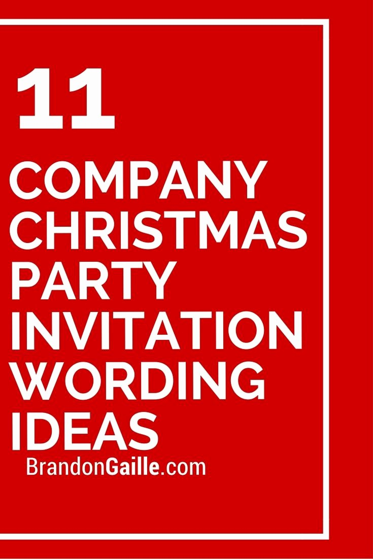 Company Christmas Party Invite Template Best Of 11 Pany Christmas Party Invitation Wording Ideas