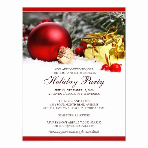 Company Christmas Party Invite Template Best Of Corporate Holiday Party Invitation Template