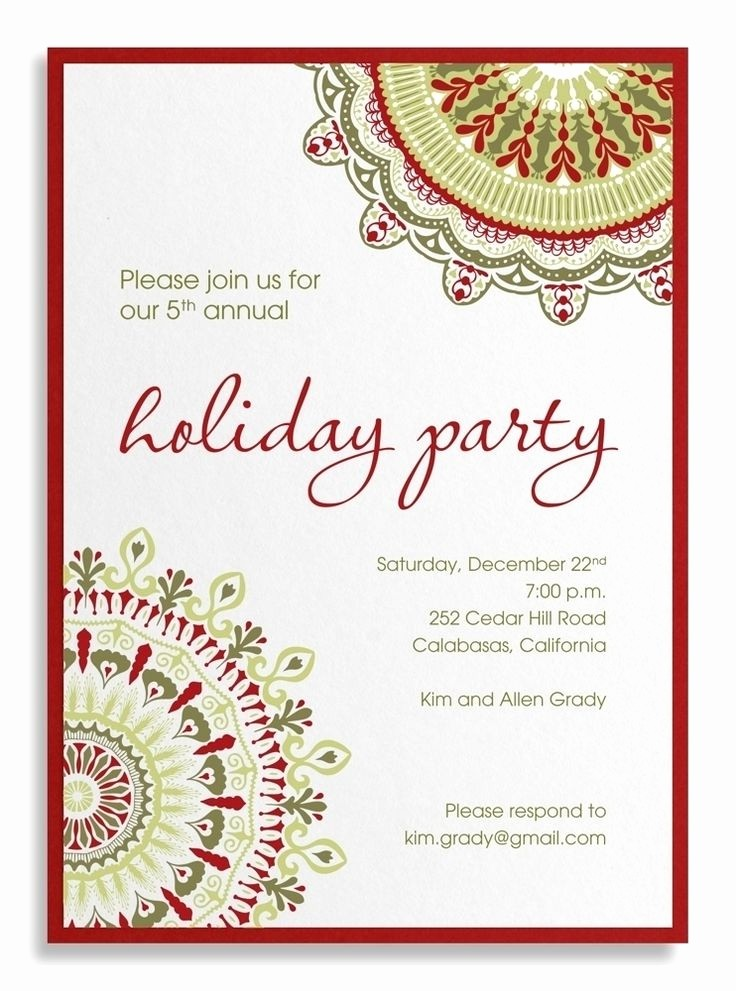Company Christmas Party Invite Template Elegant Corporate Christmas Party Invitation Templates