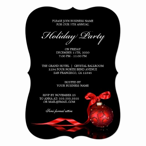 Company Christmas Party Invite Template Elegant top 50 Fice Holiday Party Invitations 2015