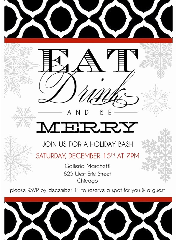 Company Christmas Party Invite Template Fresh 19 Holiday Party Invitation Templates