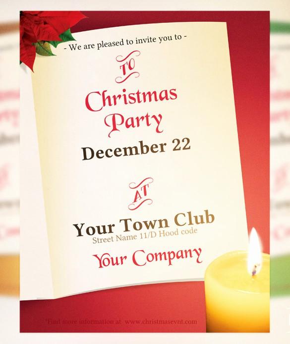 Company Christmas Party Invite Template Fresh 20 Christmas Invitation Templates Free Sample Example