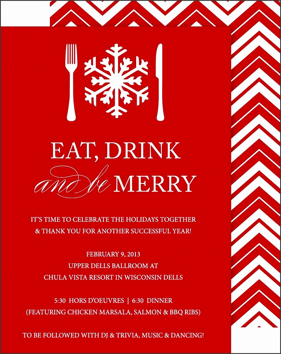 Company Christmas Party Invite Template Inspirational 8 Pany Party Invitation Template Sampletemplatess