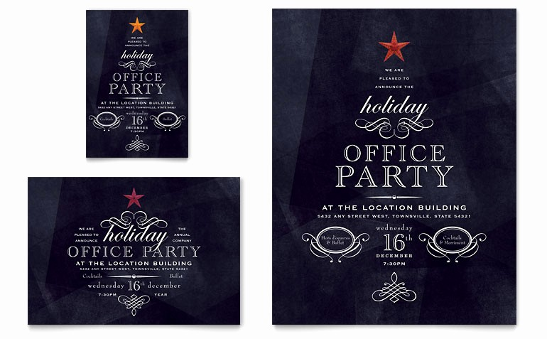 Company Christmas Party Invite Template Inspirational Fice Holiday Party Flyer & Ad Template Word & Publisher