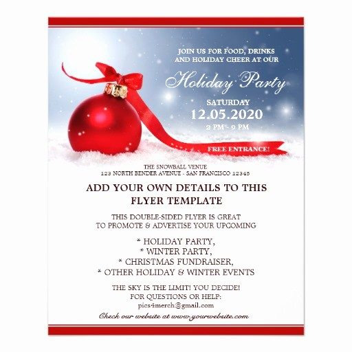 Company Christmas Party Invite Template Inspirational Pany Business Fice Christmas Party Flyers