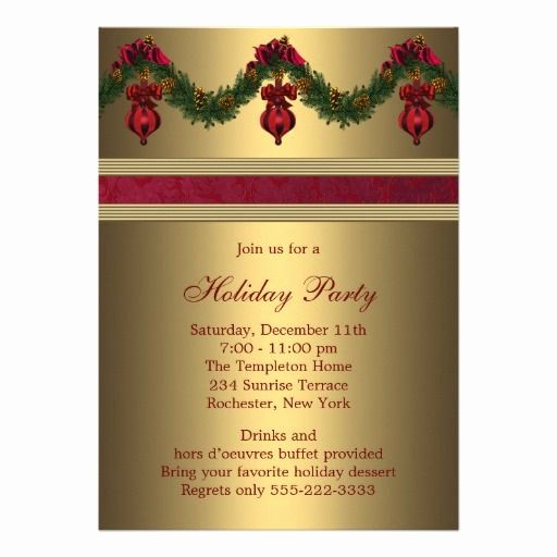 Company Christmas Party Invite Template Inspirational Pany Holiday Party Invitation Wording
