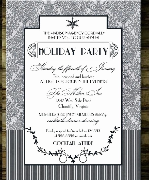 Company Christmas Party Invite Template Luxury Corporate Holiday Party Invitation Template Free Christmas