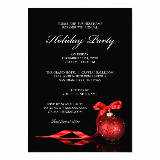 Company Christmas Party Invite Template Luxury Corporate Holiday Party Invitations