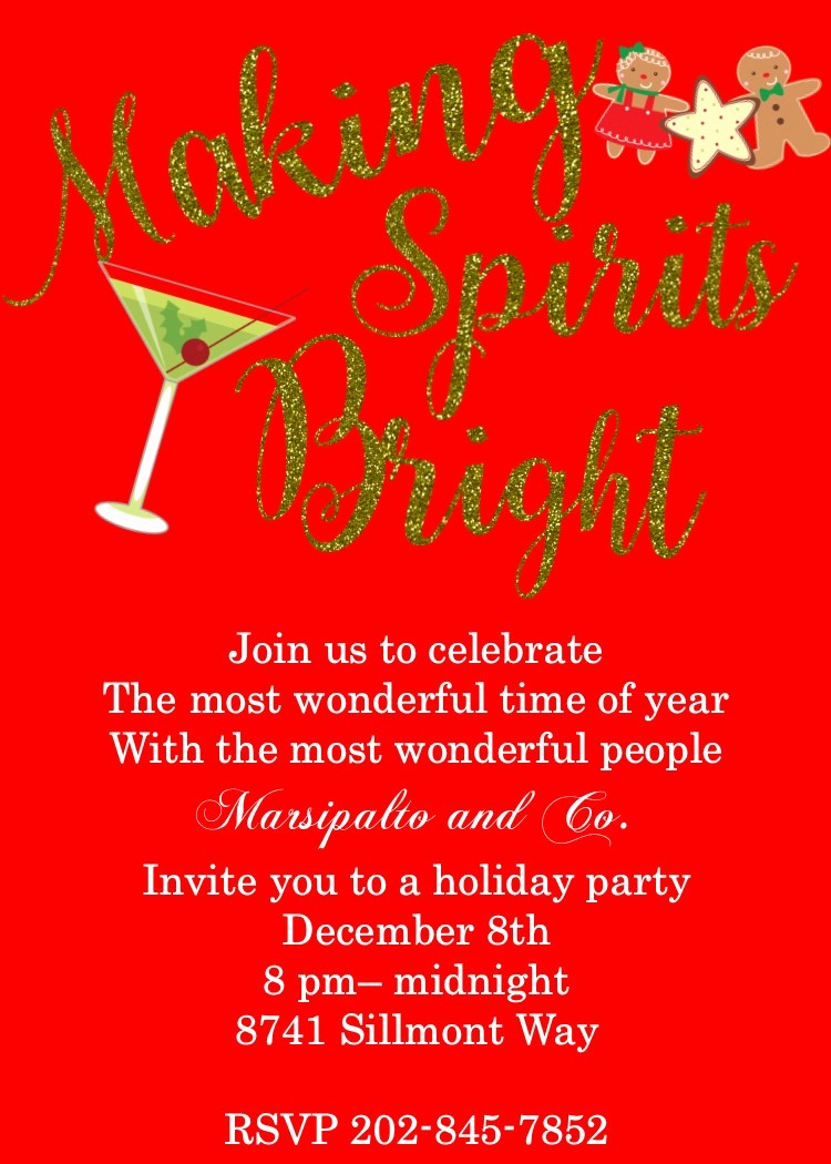 Company Christmas Party Invite Template Luxury Party Invitation Templates Pany Christmas Party