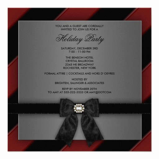 Company Christmas Party Invite Template New Business Holiday Party Invitation Templates