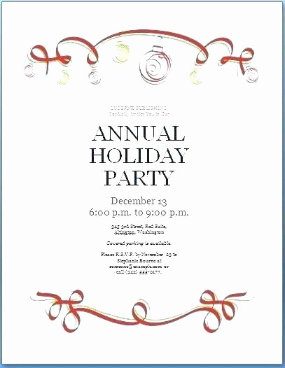 Company Christmas Party Invite Template New Pany Holiday Party Invitation Template Accurate Fice