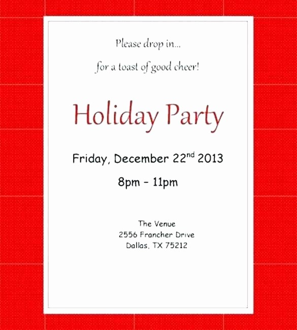 Company Holiday Party Invitation Template Beautiful Unique Holiday Party Invitation Email Template Free for