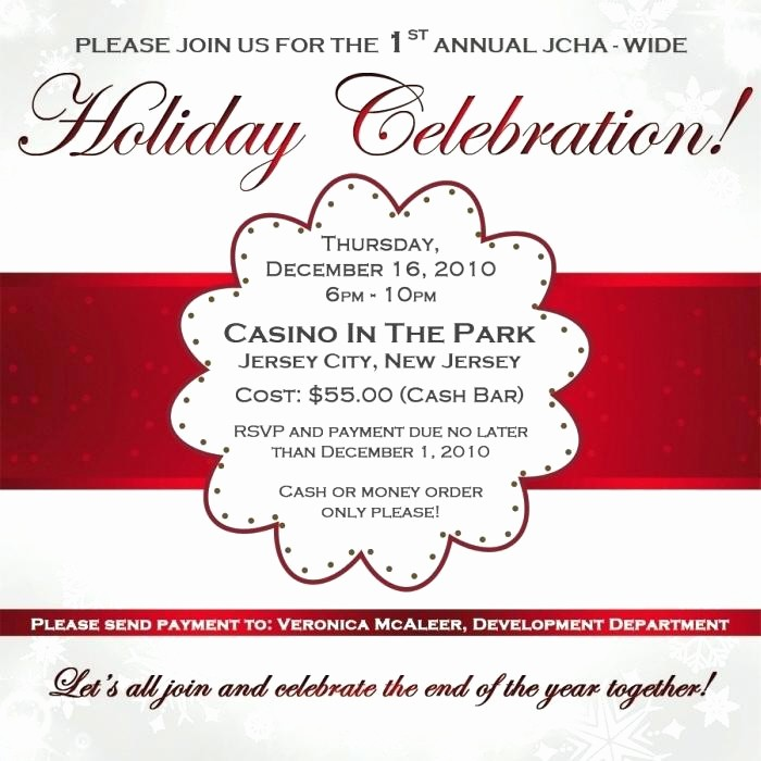 Company Holiday Party Invitation Template Best Of Corporate Christmas Party Invitation Wording Samples
