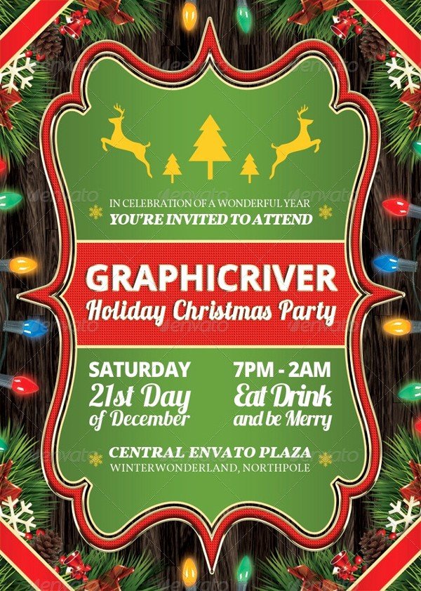 Company Holiday Party Invitation Template Elegant 20 Christmas Party Templates Psd Eps Vector format