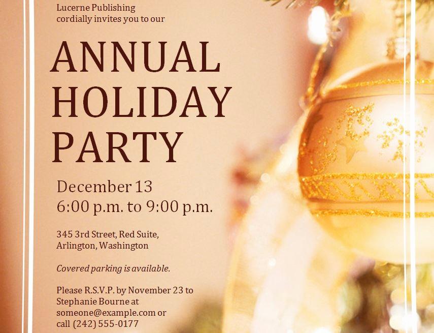 Company Holiday Party Invitation Template Fresh Corporate Holiday Party Invitations Template
