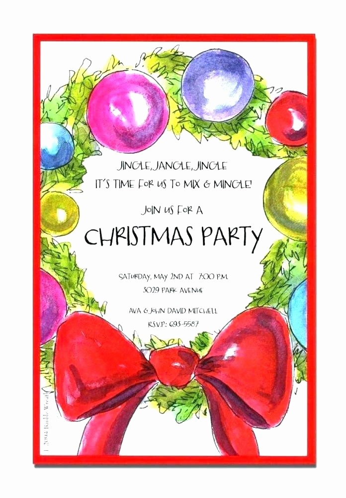 Company Holiday Party Invitation Template Fresh Free Party Invitation Templates Christmas Drinks Template