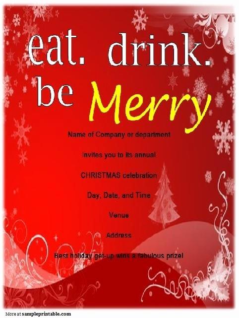 Company Holiday Party Invitation Template Fresh Pany Christmas Party Invitations Templates