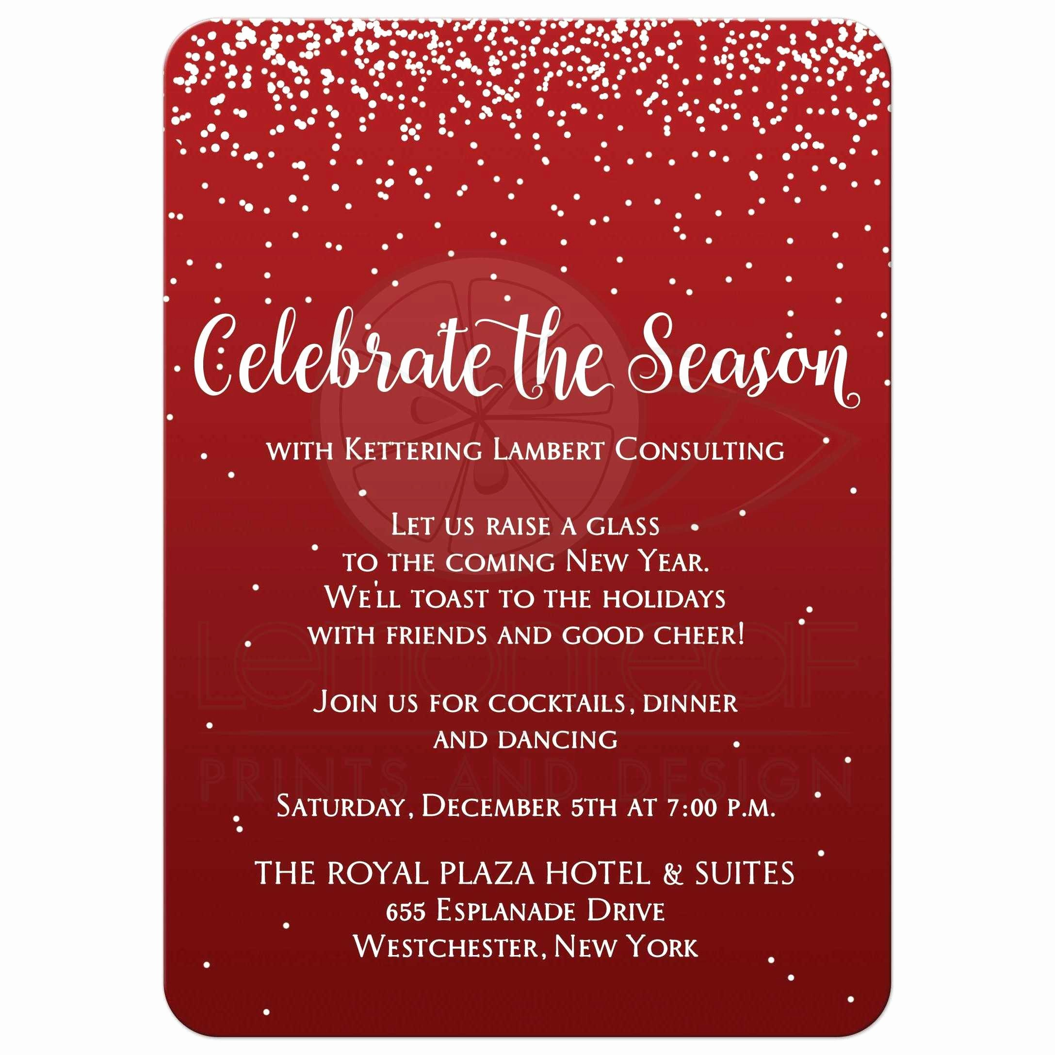 Company Holiday Party Invitation Template Inspirational Pany Christmas Party Invitations