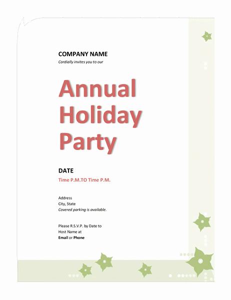 Company Holiday Party Invitation Template Luxury Pany Holiday Party Invitation