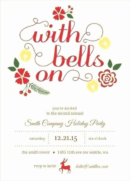 Company Holiday Party Invitation Template Luxury Work Holiday Party Invitation Corporate Templates Ideas