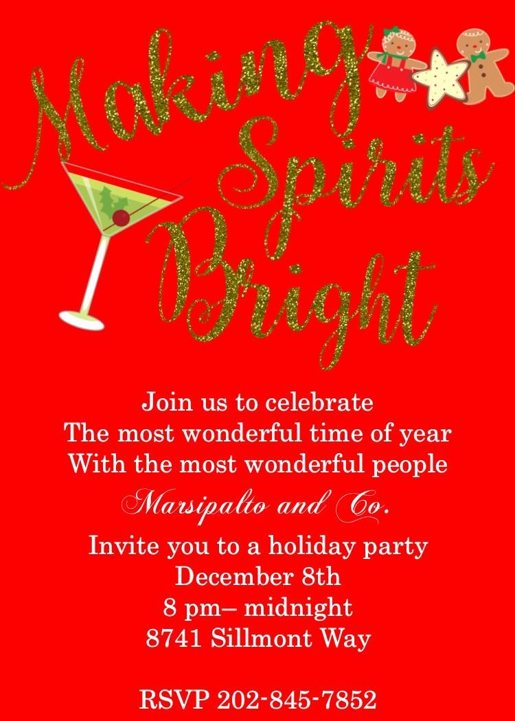 Company Holiday Party Invitation Template New Party Invitation Templates Pany Christmas Party