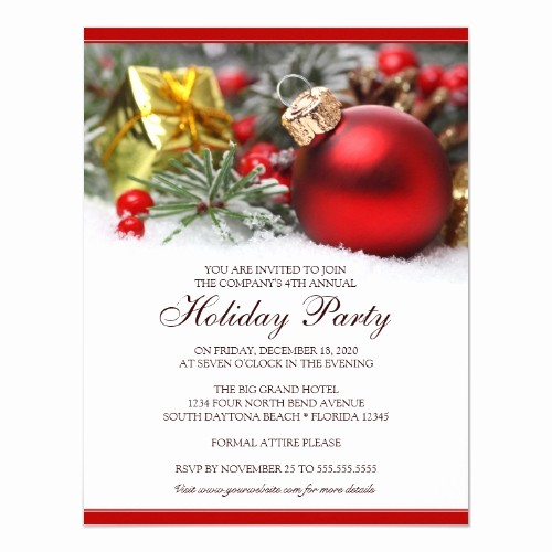 Company Holiday Party Invitation Template Unique top 50 Work Christmas Party Invitations