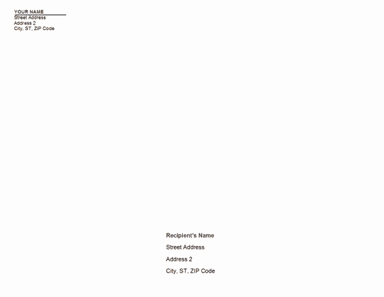 Company Letterhead Template Word 2007 Awesome Download Business Letterhead and Matching Envelope 8 1 2