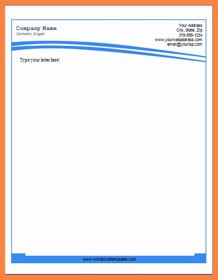 Company Letterhead Template Word 2007 Best Of 6 Microsoft Word Letterhead Templates