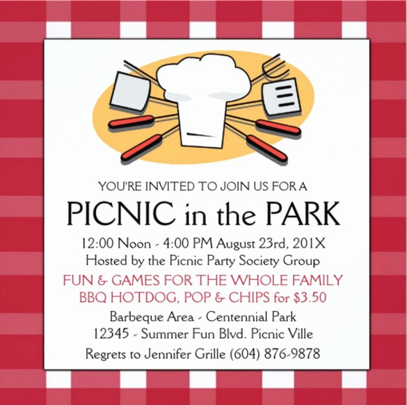 Company Picnic Flyer Template Free Awesome 26 Picnic Invitation Templates Psd Word Ai