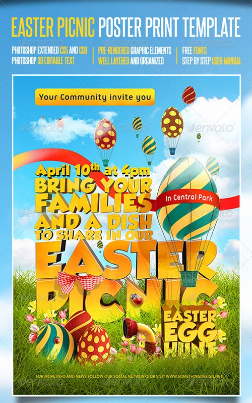 Company Picnic Flyer Template Free Best Of 8 Best Of Easter Picnic Flyer Easter Picnic Flyer