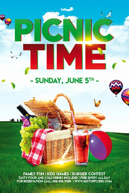 Company Picnic Flyer Template Free Best Of Download Free Picnic Time Free Poster and Flyer Template