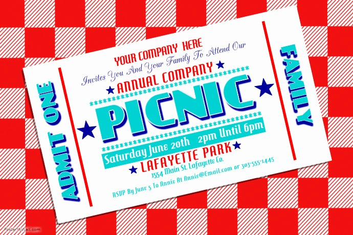 Company Picnic Flyer Template Free Best Of Pany Picnic Template