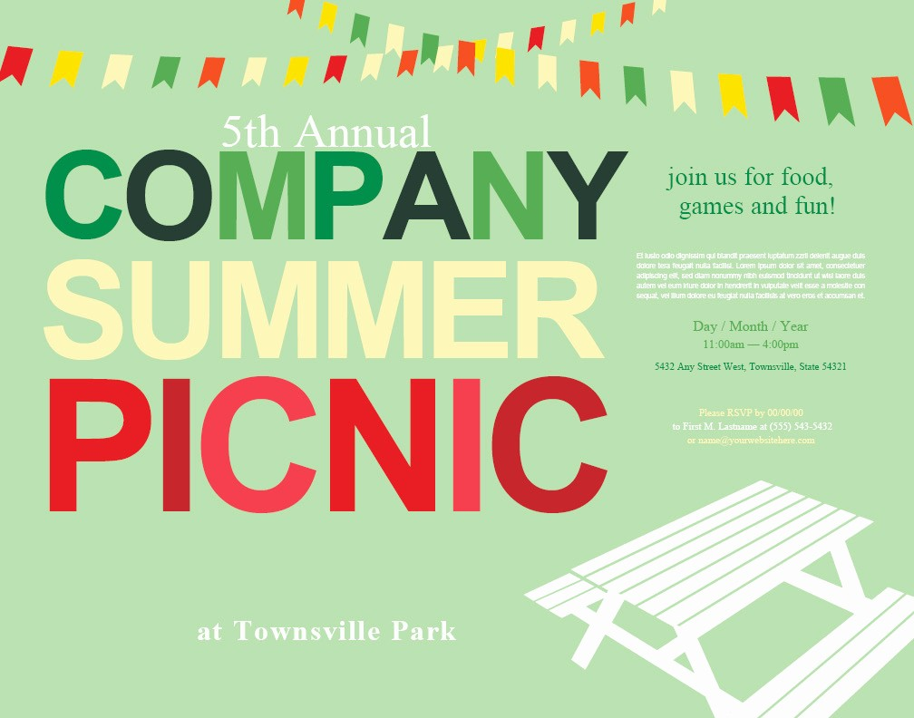 Company Picnic Flyer Template Free Best Of Picnic Invitations Summer Bbq Barbecue July 4th Checkered