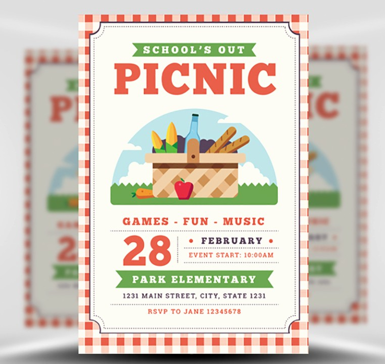 Company Picnic Flyer Template Free Best Of School S Out Picnic Flyer Template Flyerheroes