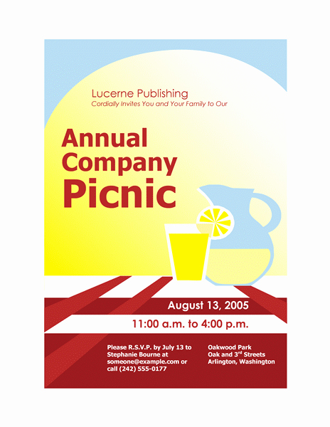 Company Picnic Flyer Template Free Elegant Download Free Printable Invitations Of Pany Picnic