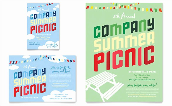 Company Picnic Flyer Template Free Fresh 14 Amazing Picnic Flyer Templates In Word Psd