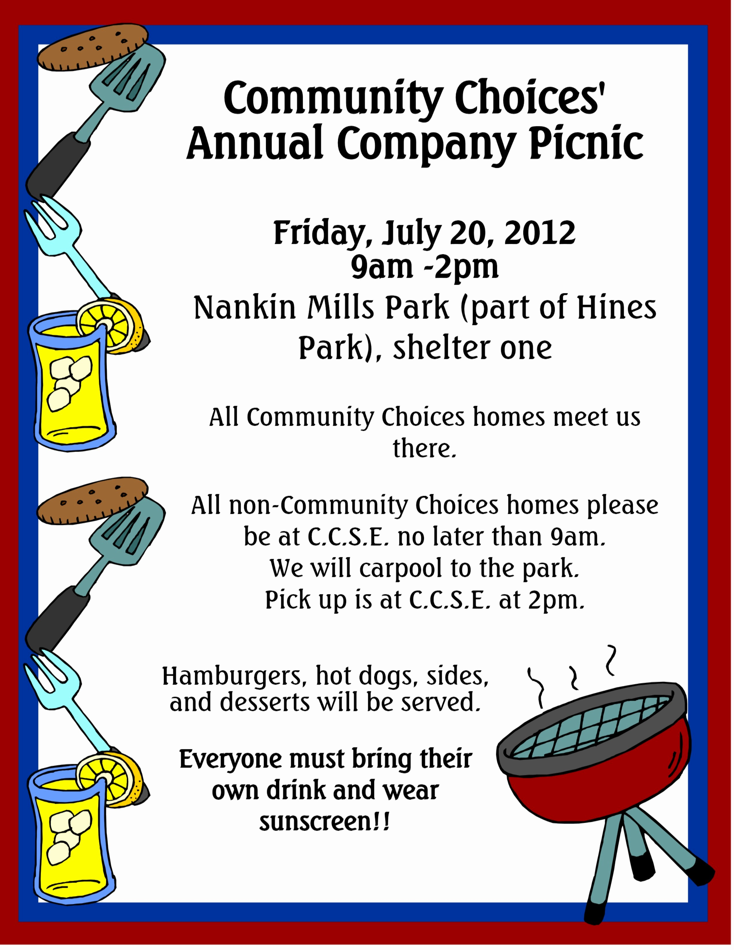 Company Picnic Flyer Template Free Fresh Pany Picnic Flyer Clipart